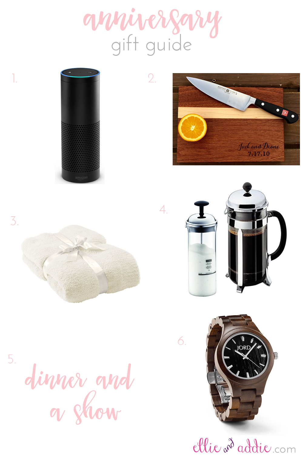 Anniversary Gift Guide | Ellie And Addie