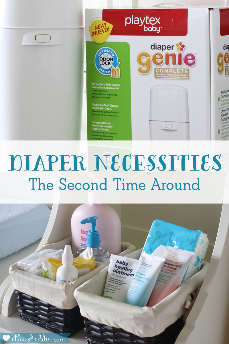 Diaper Necessities - The Second Time Around | Ellie And Addie
