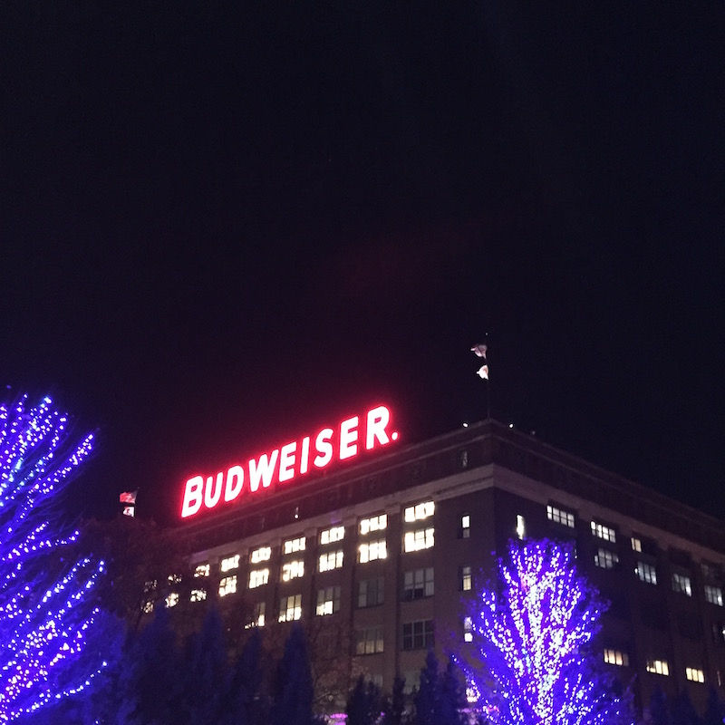 Brewery Lights at Anheuser-Busch St. Louis | Ellie And Addie