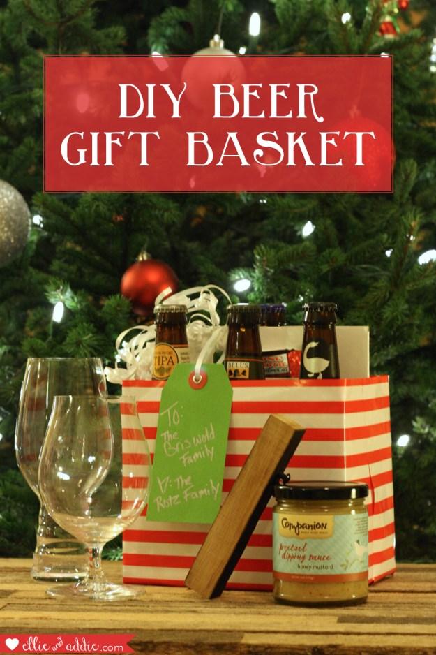 Hoppy Holidays - DIY Beer Gift Basket | Ellie And Addie
