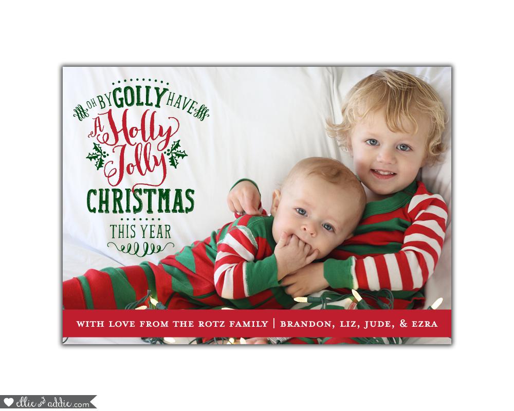 Christmas Cards 2016 | Ellie And Addie