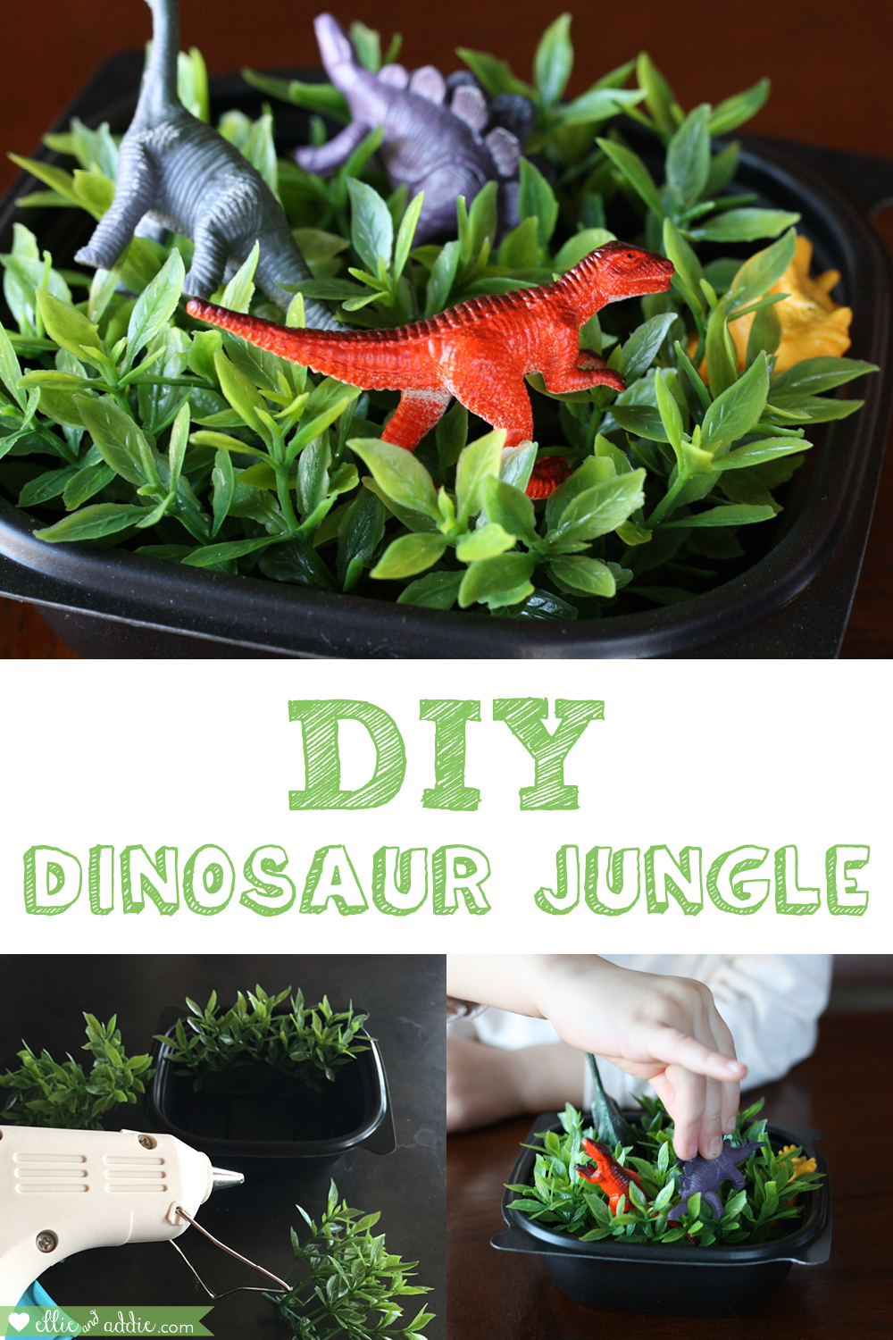DIY Dinosaur Jungle | Ellie And Addie