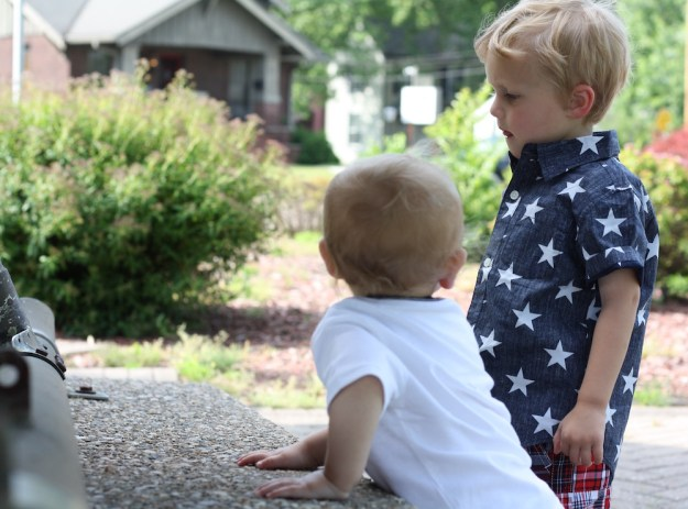 Red White And Cute with Gymboree | Ellie And Addie
