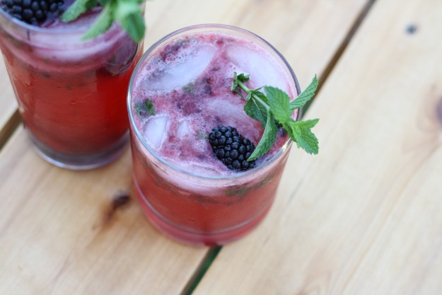 Blackberry Cocktails Two Ways | Ellie And Addie