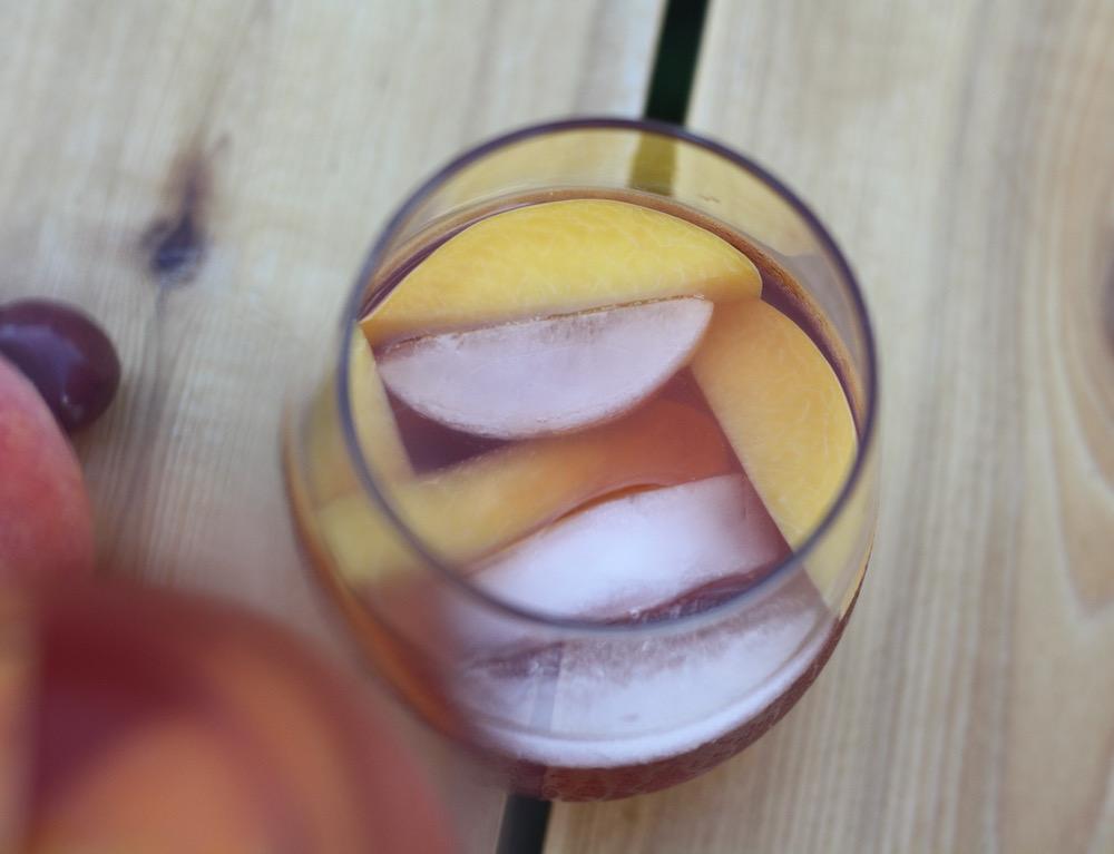 Peach Rosé Sangria Recipe | Ellie And Addie
