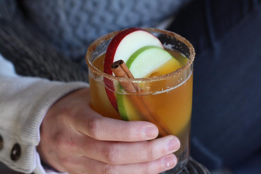 Spiked Apple Cider Cocktail | Ellie And Addie