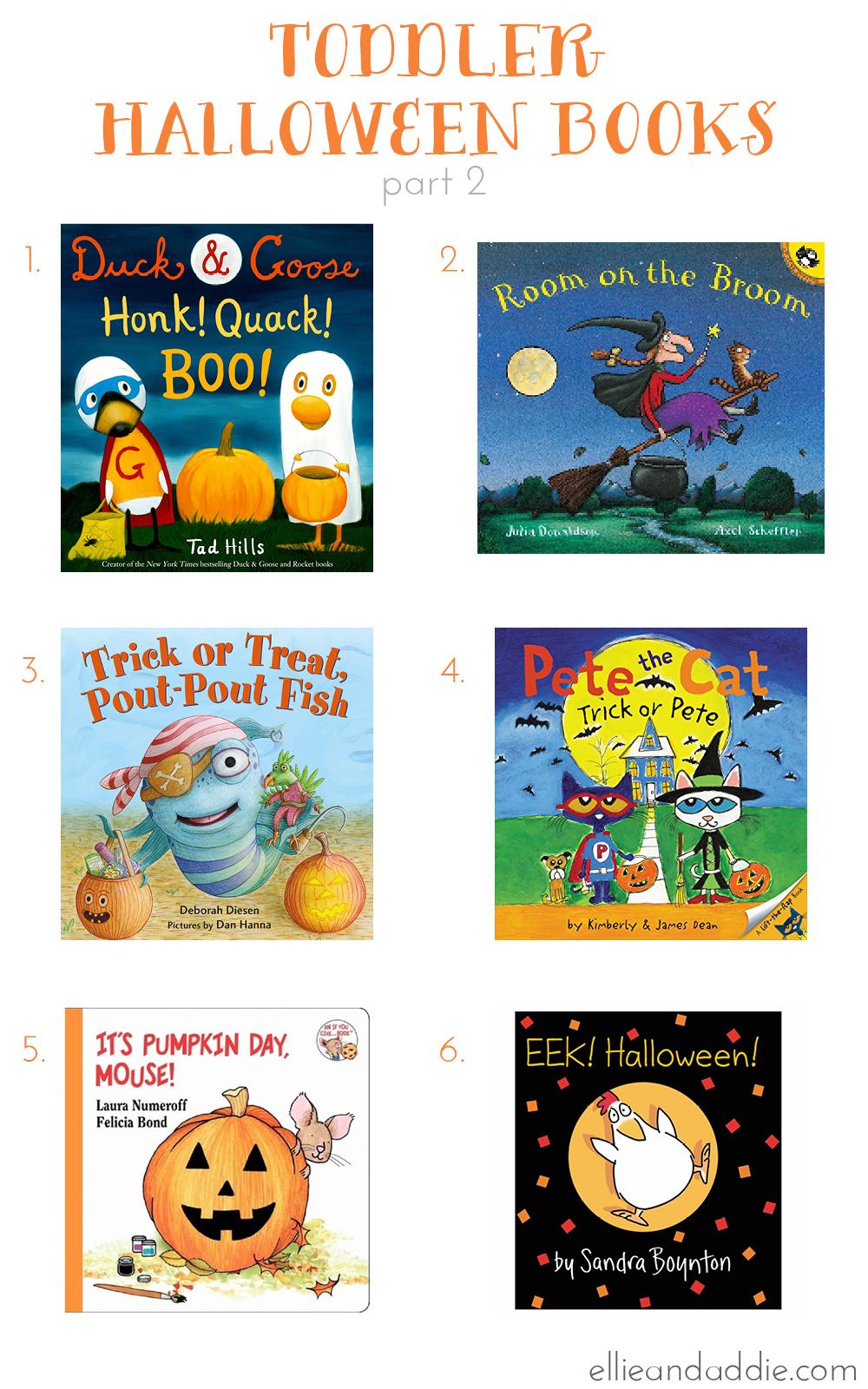 Toddler Halloween Books - Part 2 | Ellie And Addie