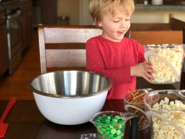 Leprechaun Popcorn Munch - A Leprechaun Bait St. Patrick's Day Snack Mix   Recipe from Ellie And Addie