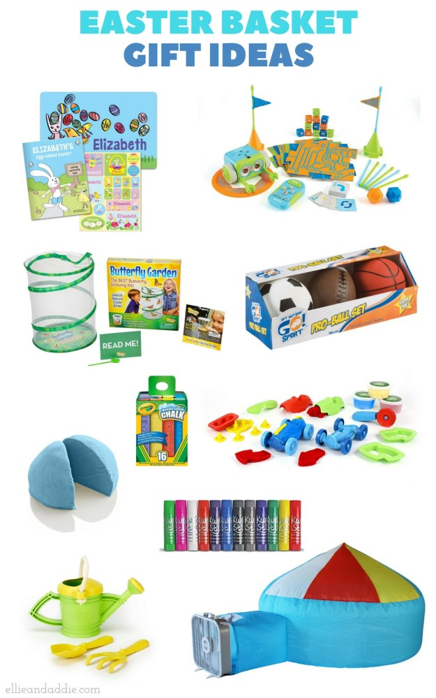 Easter Basket Gift Ideas - The best Easter basket gifts for your little one! From EllieAndAddie.com