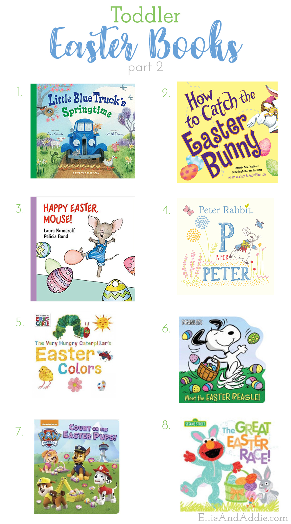 All the best Easter books for Toddlers - Toddler Easter Books | Ellie And Addie
