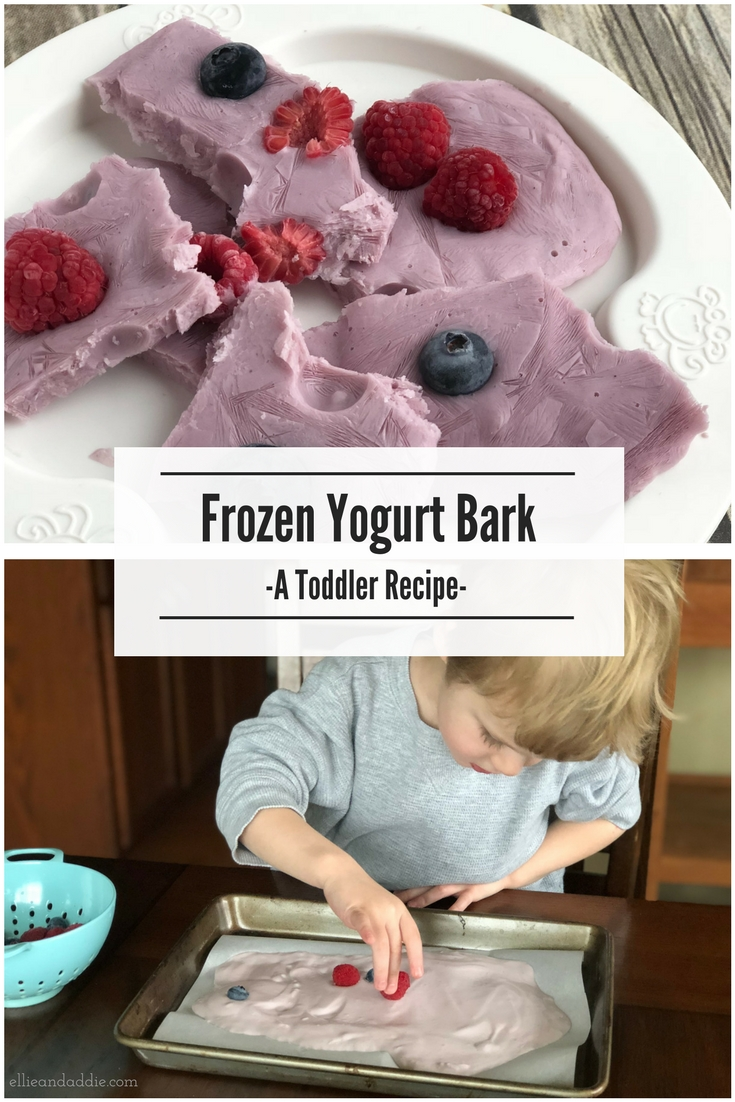Frozen Yogurt Bark - A Toddler Recipe from Ellie And Addie