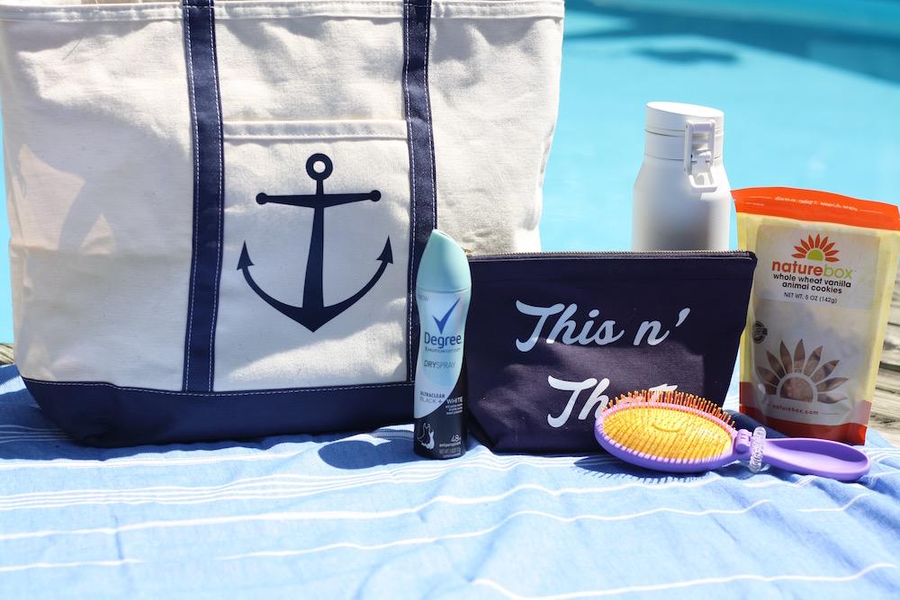 My Five Basic Pool Bag Essentials | Ellie And Addie