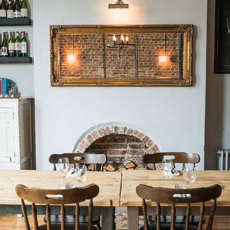 cosy restaurant dining room