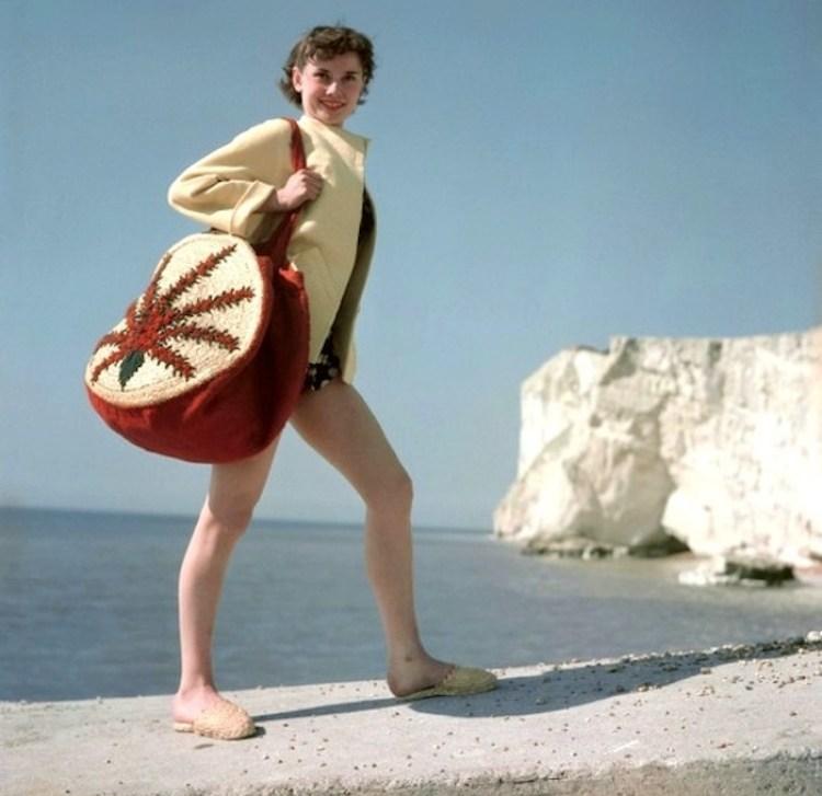 audrey hepburn fashion beach england