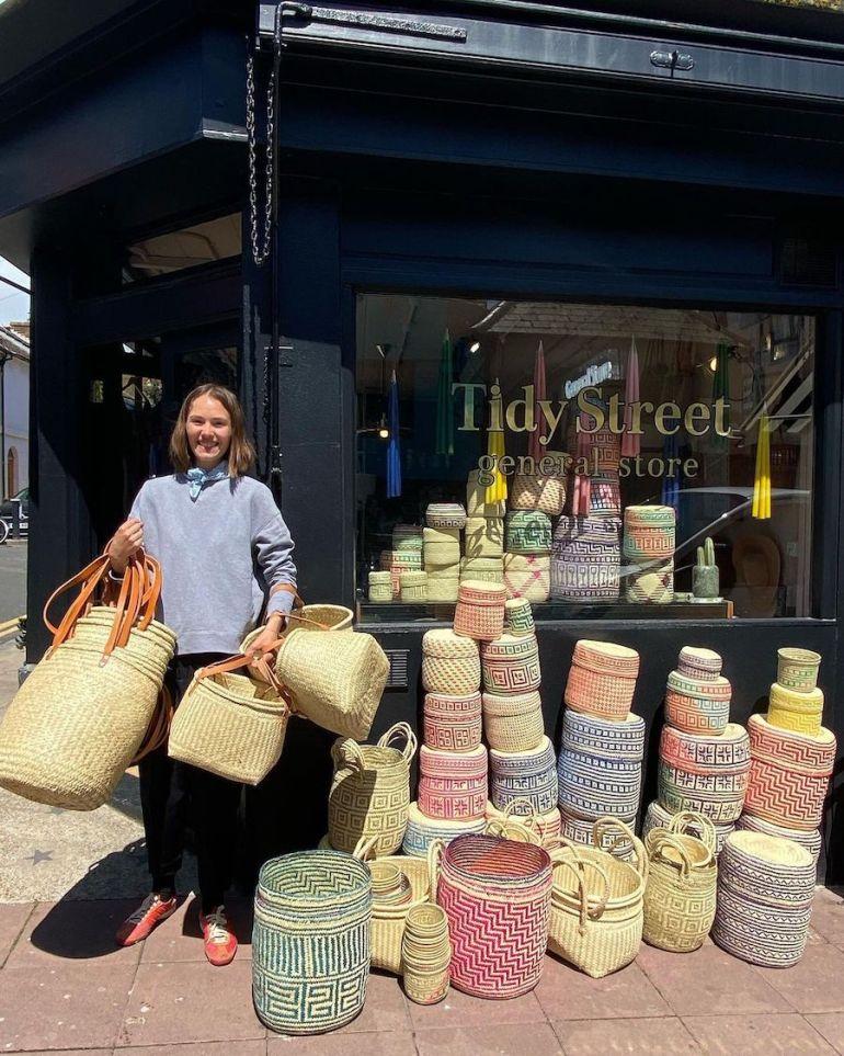 baskets outside shopfront