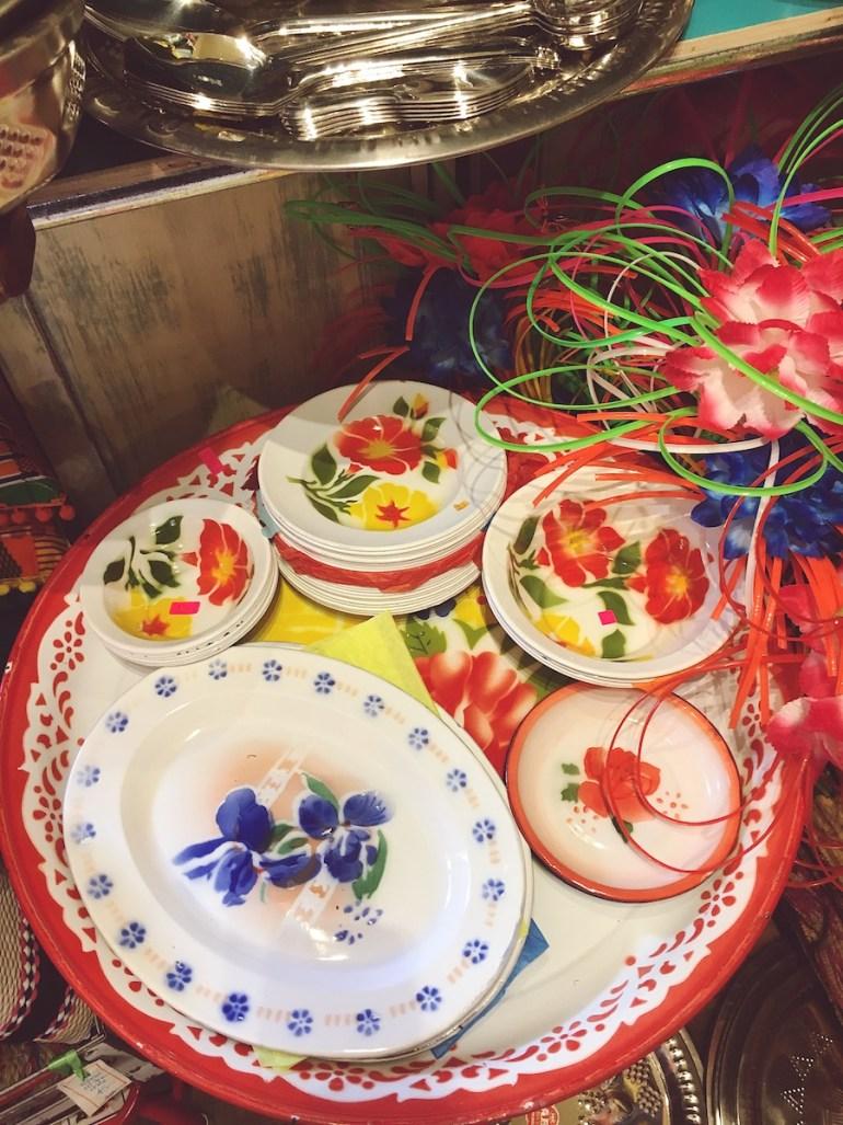 colourful enamel plates blackout shop brighton