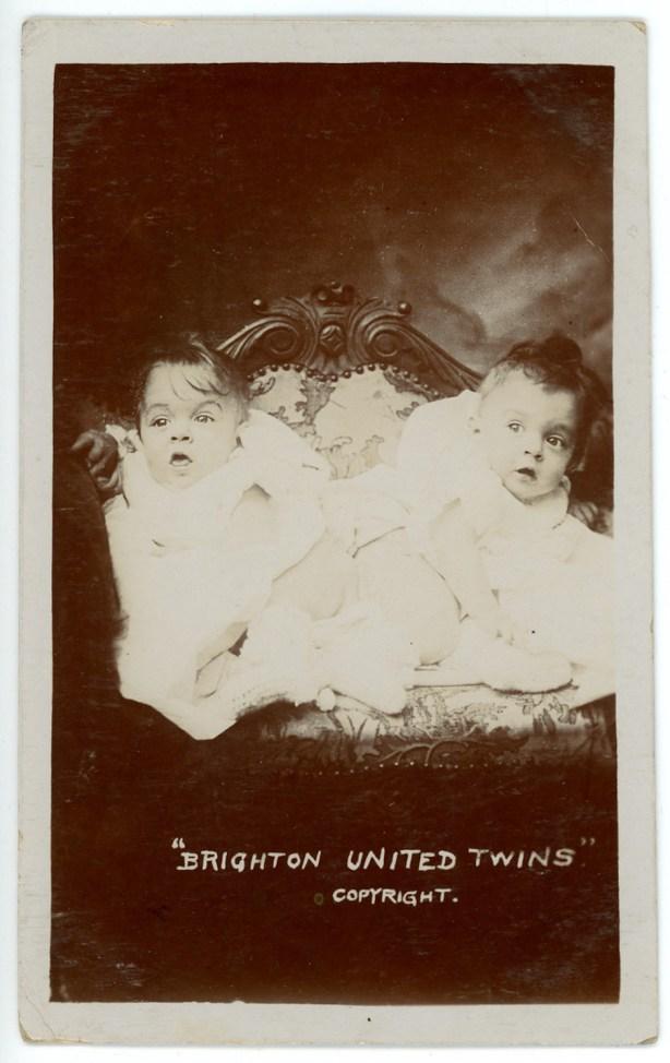 The Brighton United Twins postcard