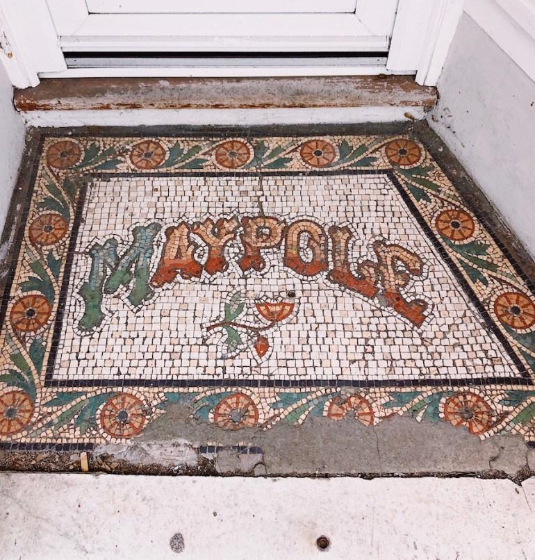 maypole dairy vintage shopfront entrance mosaic lewes road