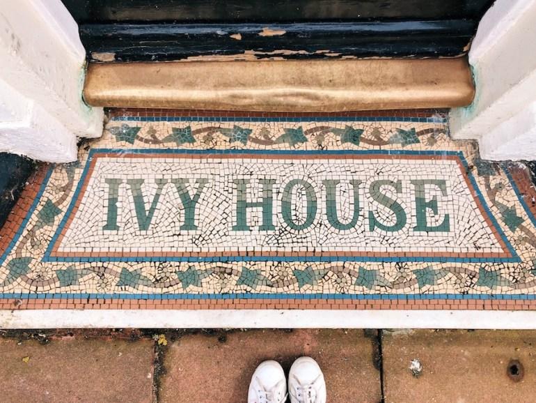 ivy house devonshire place kemptown shopfront floor mosaic
