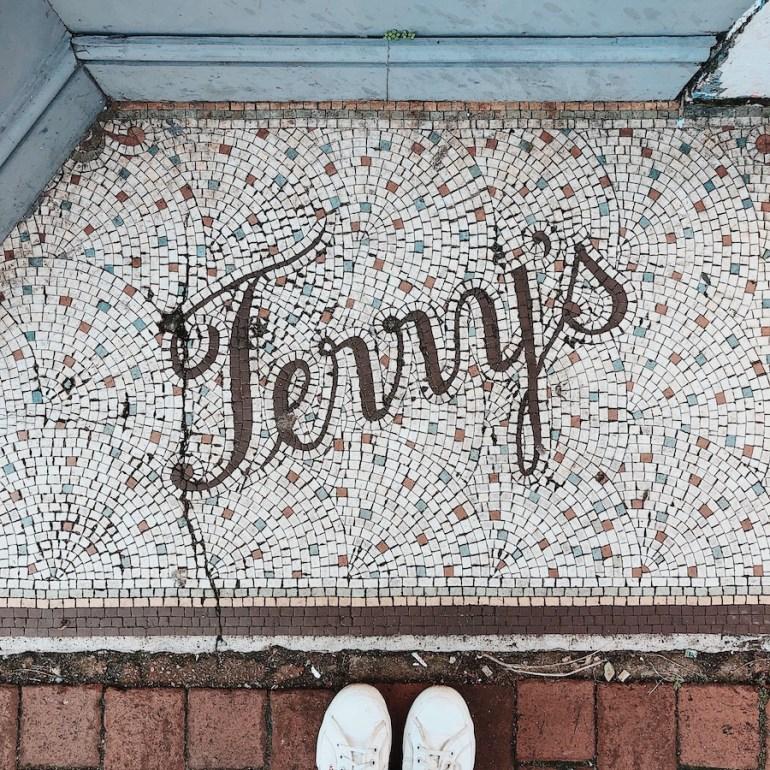 terry's vintage shopfront entrance mosaic gardner street brighton