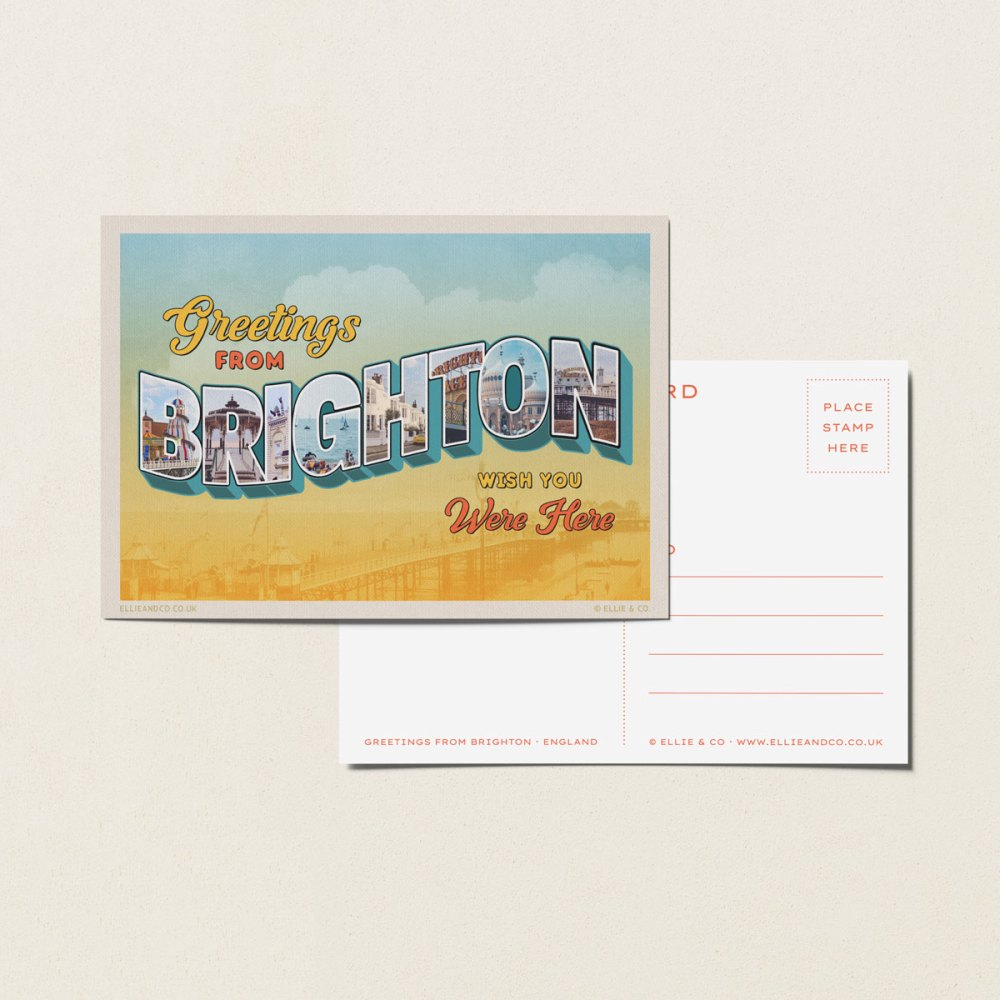 vintage brighton postcard