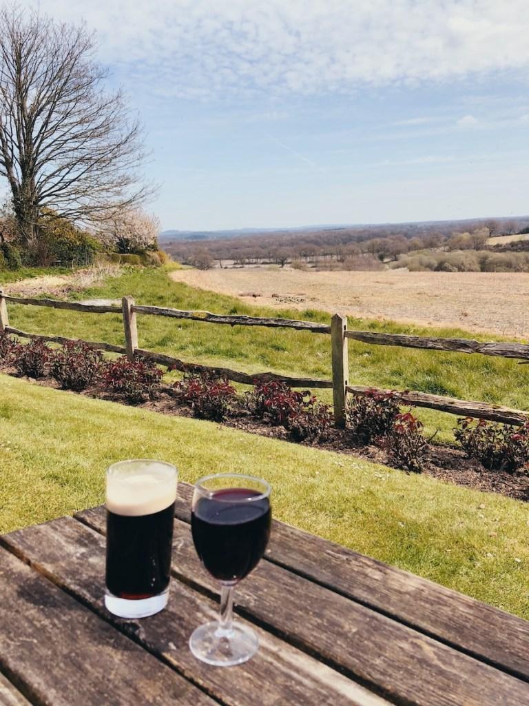 sussex village pub huge beer garden