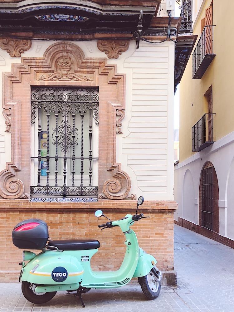 green motorbike seville