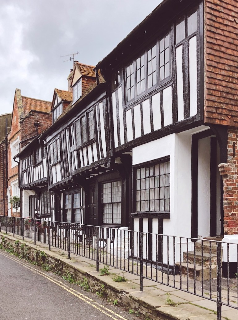 timber fronted houses