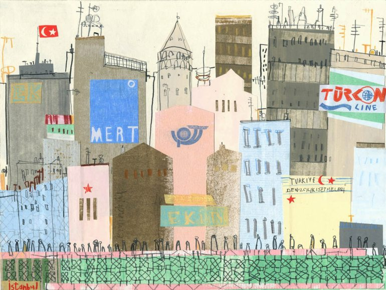 illustration of istanbul