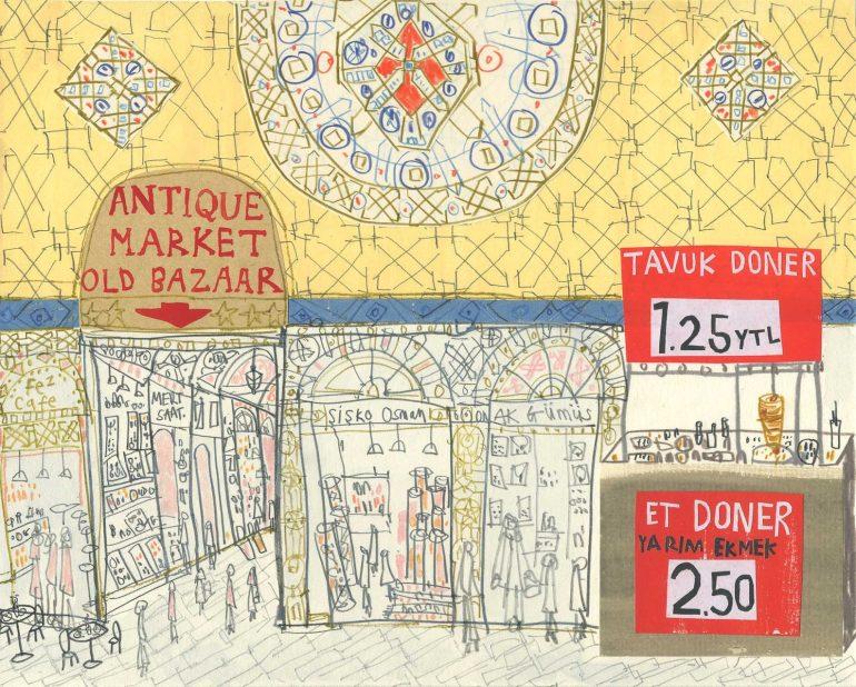 grand bazaar illustration