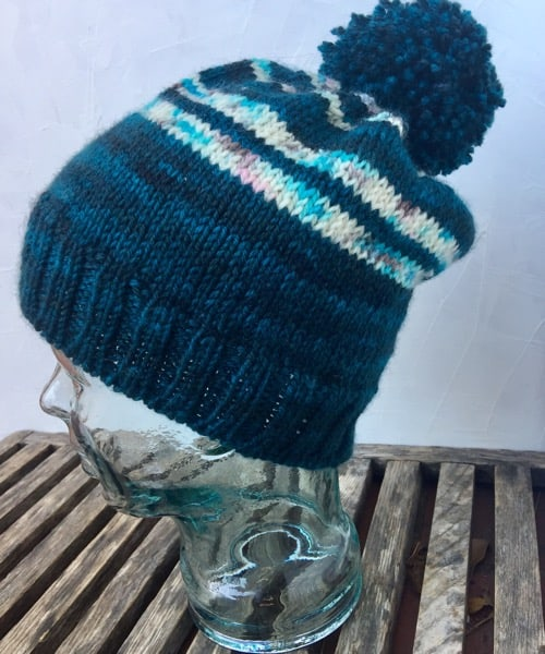 Hat knit with Elliebelly Yarn
