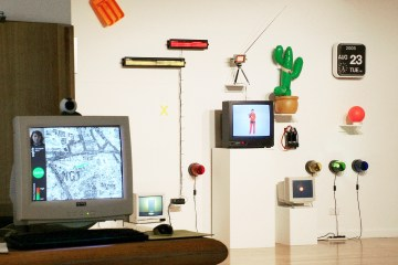 Daily Data Display Wall installed at Angel Row Gallery, Nottingham in 2005