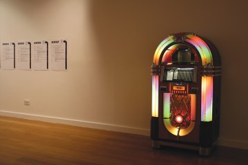 Angel Row Jukebox installed at Angel Row Gallery, Nottingham in 2007