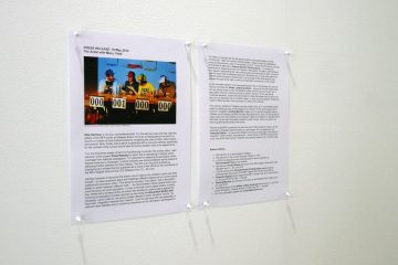 Detail of Press Release at the Centre for Contemporary Arts, Glasgow in 2010