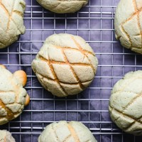 Japanese Melon Bread (Vegan) ビーガンメロンパン