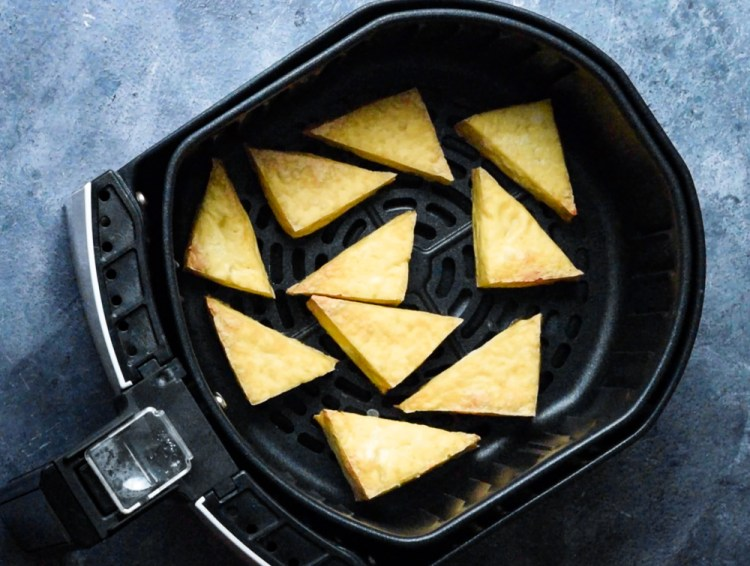 tofu in air fryer just after cooking