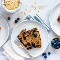 Vegan Blueberry Banana Bread (Oil-Free)