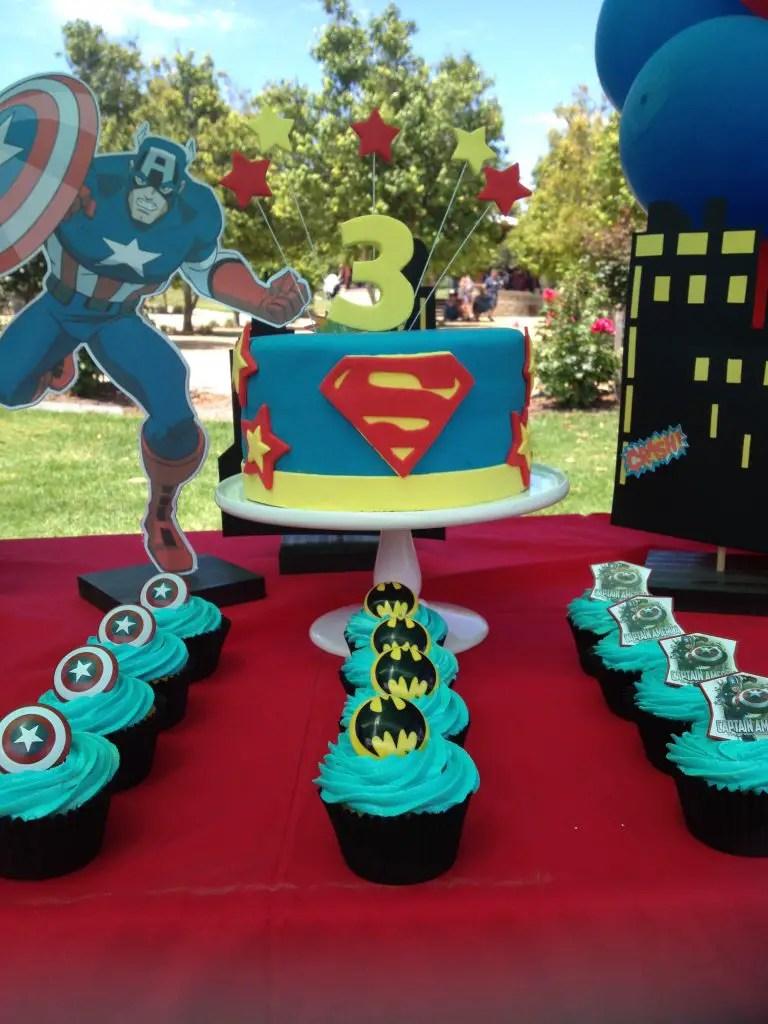 Diy Superhero Birthday Party Batman Spiderman Captain