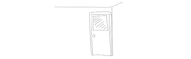 wall and door sketch