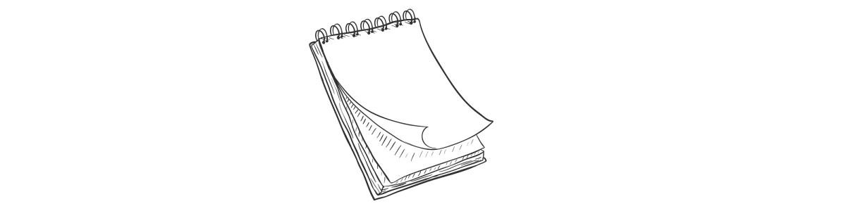blank notepad illustration