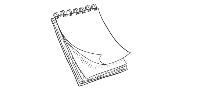 blank notepad illustration
