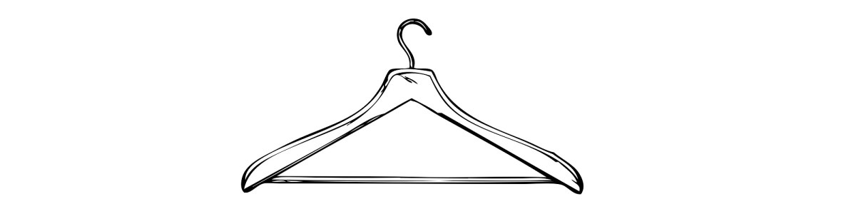 "Coat hanger illustration - ""Distressed"" flash fiction"