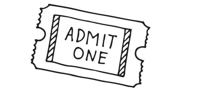 "Ticket illustration - ""Assumptions"" Flash Fiction"