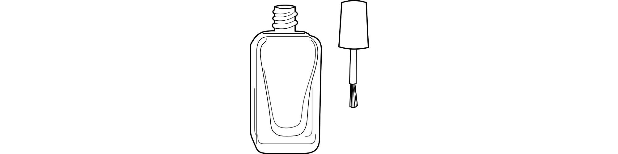 "Nail polish bottle illustration - ""The Nail Reader"" microfiction"
