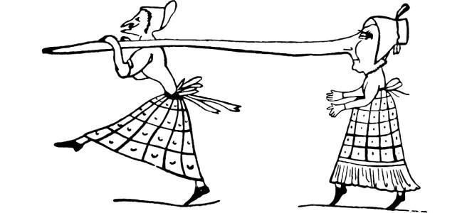 "Long nose illustration - ""Pants on Fire"" flash fiction"