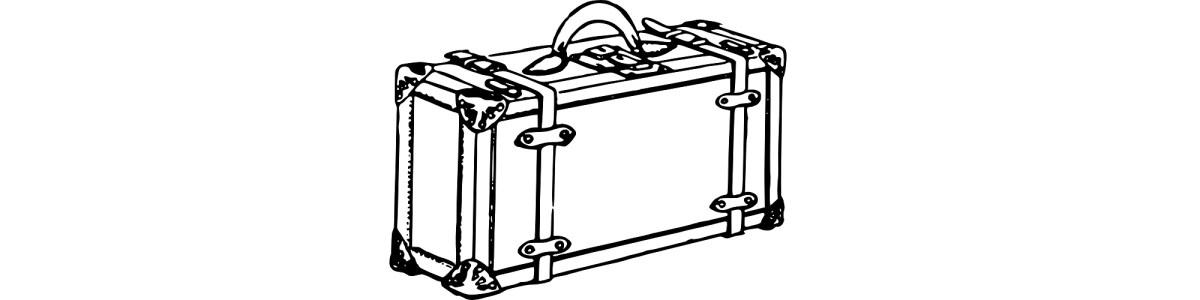 "Suitcase illustration - ""Packing Up"" microfiction"