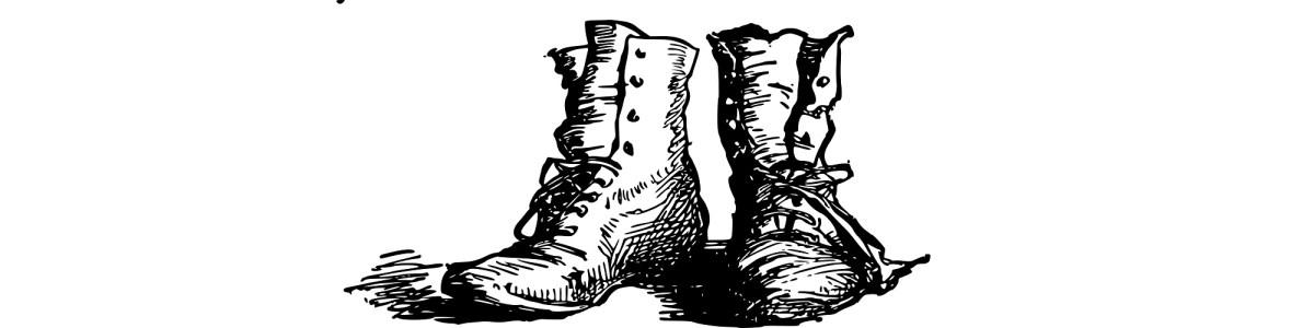 "Boots illustration - ""Take a Hike"" flash fiction"