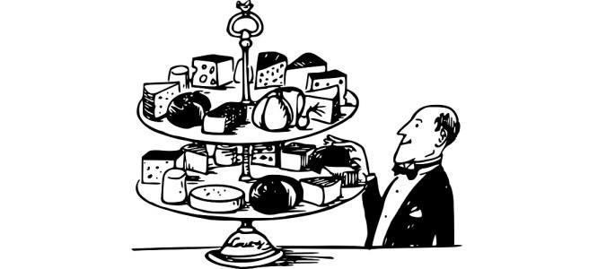 "Cheese platter illustration - ""Cheesy Git"" flash fiction"