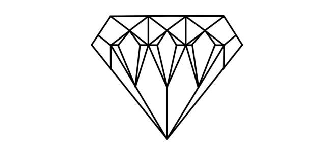 "Diamond illustration - ""In Bits"" microfiction"