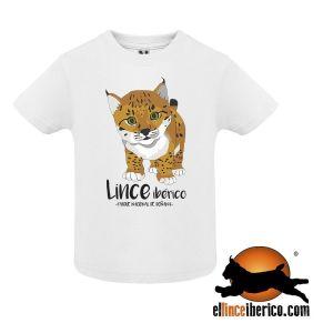 Camiseta cachorro bebé lince ibérico